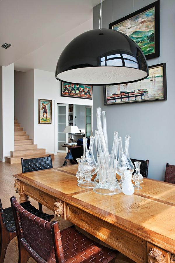 suspension-de-salle-à-manger-un-grand-plafonnier-noir