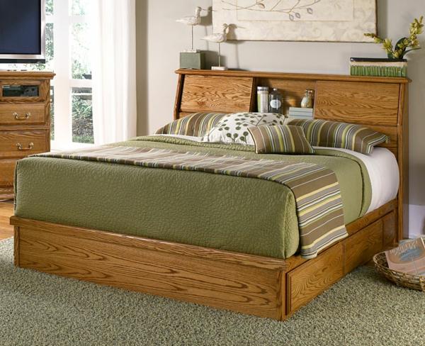 tete de lit en bois avec rangement. Black Bedroom Furniture Sets. Home Design Ideas