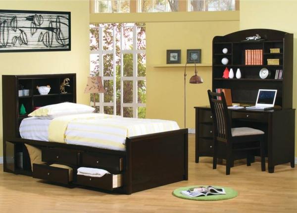 tête-de-lit-avec-rangement-dans-une-petite-chambre-enfant