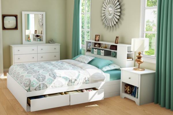 la t te de lit avec rangement un gain d 39 espace d co. Black Bedroom Furniture Sets. Home Design Ideas