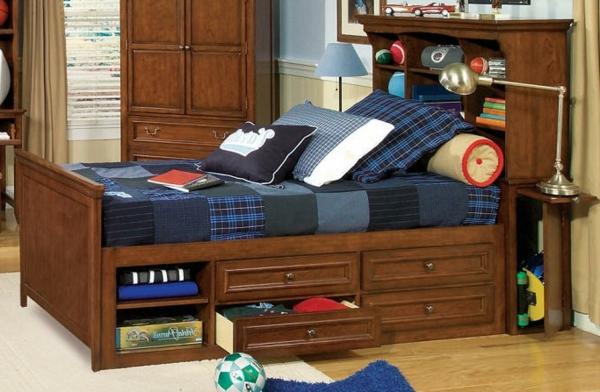 tête-de-lit-avec-rangement-lit-en-bois-avec-bibliothèque