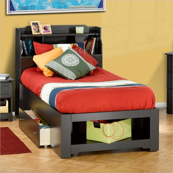 La tête de lit avec rangement - un gain d'espace déco