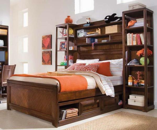 tête-de-lit-avec-rangement-tête-de-lit-bibliothèque-meubles-en-bois