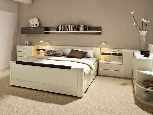 tete de lit design avec rangement. Black Bedroom Furniture Sets. Home Design Ideas