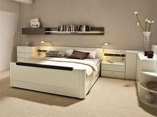 La t te de lit avec rangement un gain d 39 espace d co - Lit avec tete de lit design ...