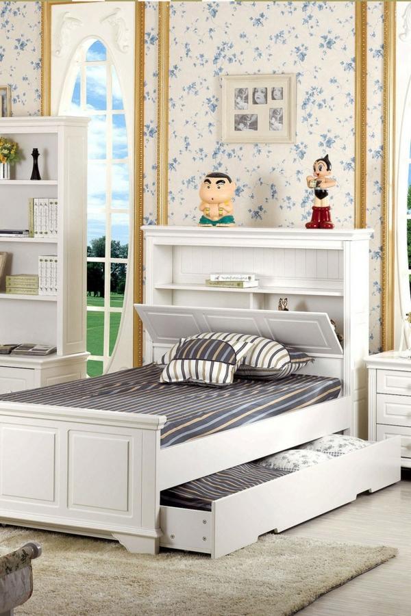 La tête de lit avec rangement - un gain d'espace déco - Archzine.fr