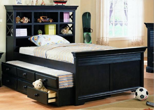 tête-de-lit-avec-rangement-un-lit-d'enfant-original