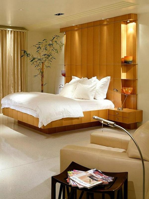 tête-de-lit-avec-rangement-une-chambre-beige-chevets-flottants