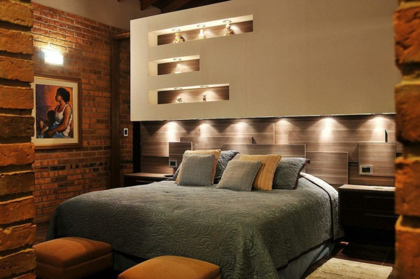 lit avec niche rangement. Black Bedroom Furniture Sets. Home Design Ideas