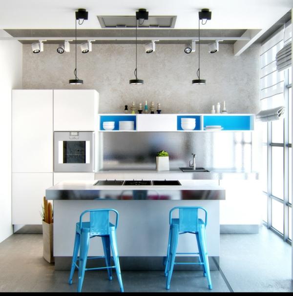 Un tabouret de bar color pour la cuisine moderne - Tabouret de bar pour cuisine ...