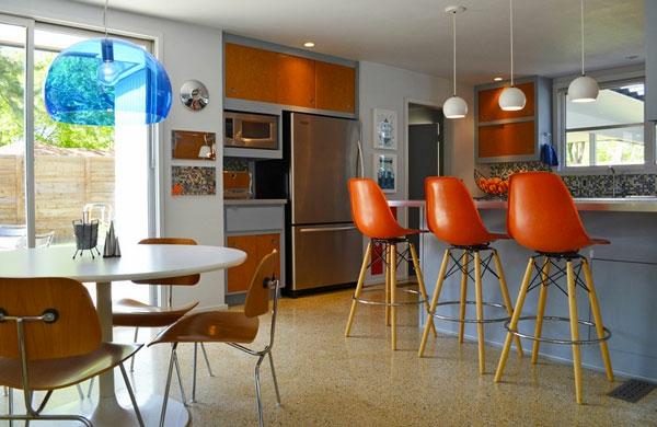 un tabouret de bar color pour la cuisine moderne