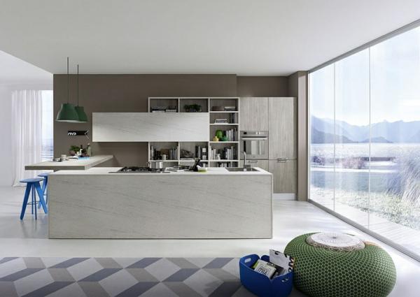 Un tabouret de bar color pour la cuisine moderne - Bar dans cuisine ...