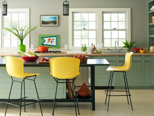 tabouret-de-bar-coloré-tabourets-jaunes