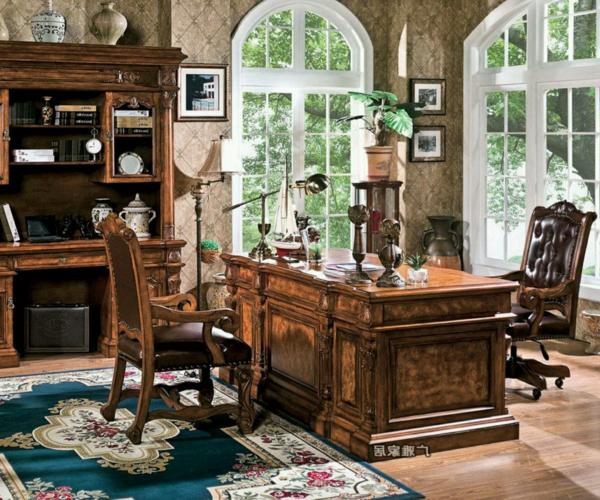 unique-design-pour-votre-office-du-luxe-en-bois-classique