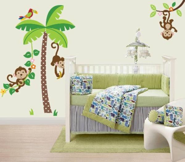 unique-idée-pour-la-chambre-de-l'enfant-avec-des-arbres-palmiers-et-des-