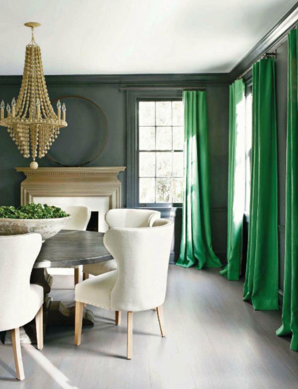 unique-rideaux-du-luxe-élégant-vert