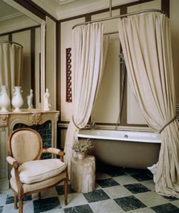 Design avec rideaux du luxe - Rideaux salle de bain ...