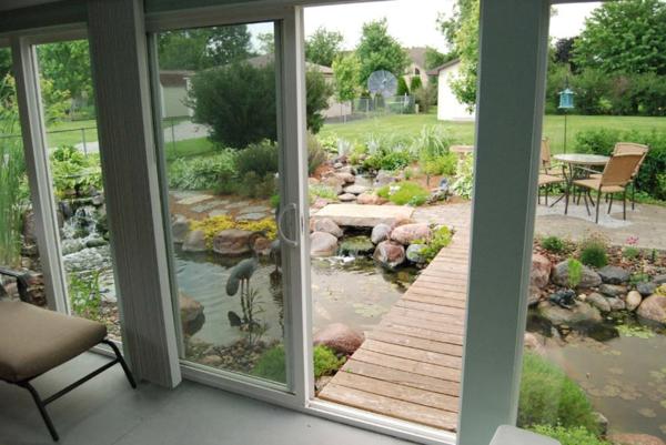 La porte coulissante vitrée- la peinture est la nature - Archzine.fr