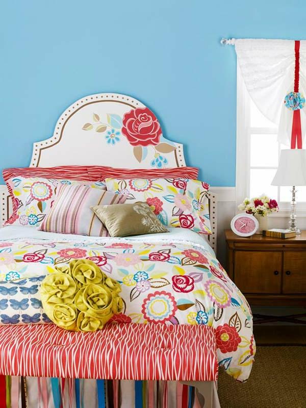 DIY-une-chambre-à-coucher-en-fleur-décoration-unique