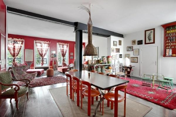 appartement-atypique-à-Paris-accents-rouges