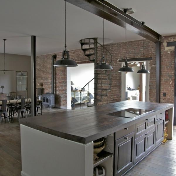 L 39 appartement atypique paris inspiration pour les artistes et les pass - Cuisine style loft industriel ...