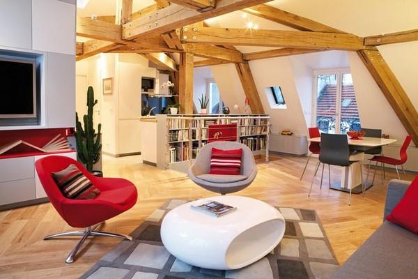appartement-atypique-à-Paris-style-loft-rustique-et-mobilier-contemporain