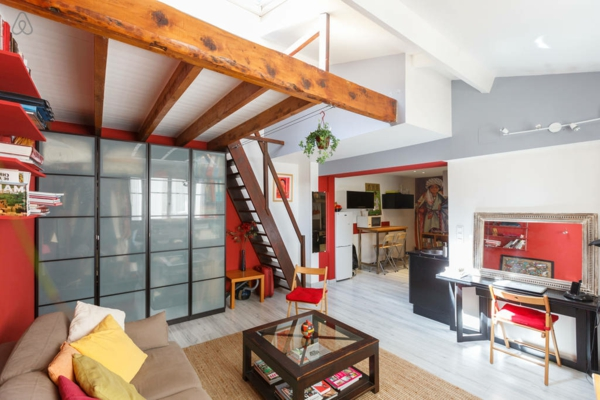 L 39 appartement atypique paris inspiration pour les artistes et les pass - Appartement loft paris ...