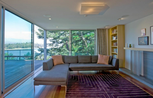 baie-vitrée-coulissante-intérieur-moderne-et-simple