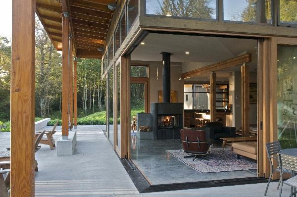 La baie vitrée coulissante pour un design spectaculaire - Archzine.fr