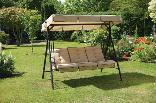balancelle de jardin avec pergola, balancelle pour trois personnes