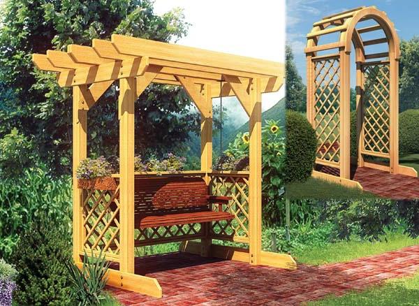 Diff rents designs de balancelle de jardin - Treillis jardin bois ...