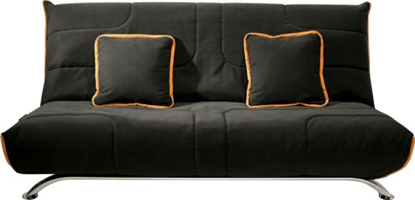 banquette-clic-clac-designet-coussin-en-noir-et-orange