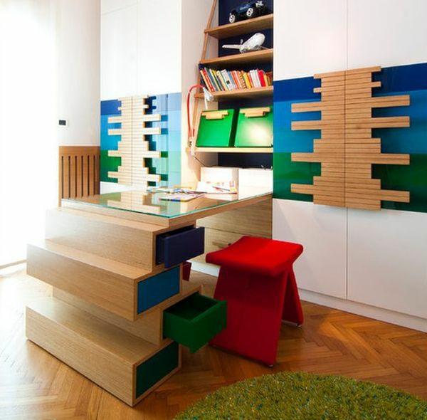 bureau-avec-étagère-étagère-encadtrée-design-unique