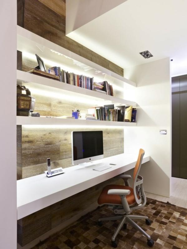bureau-avec-étagère-étagères-blanches