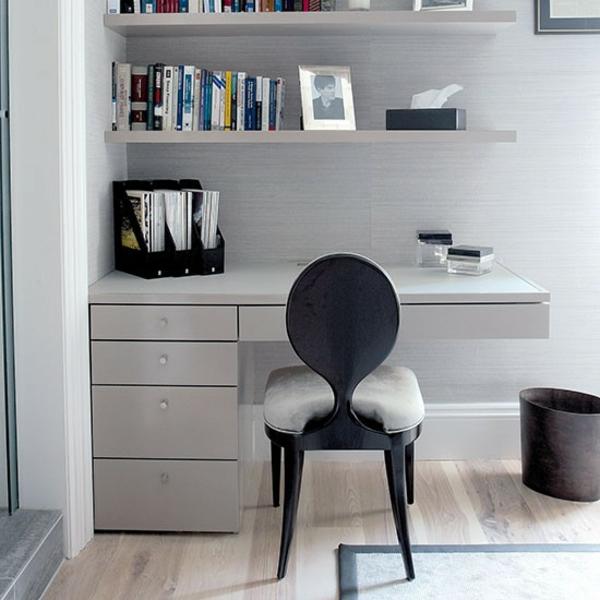 Le bureau avec étagère designs créatifs ~ Quarto Planejado Com Home Office