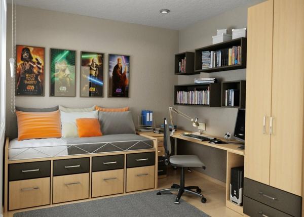 bureau-avec-étagère-étagères-modulables