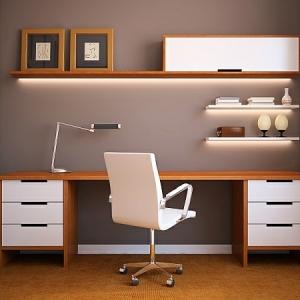 Le bureau avec étagère - designs créatifs