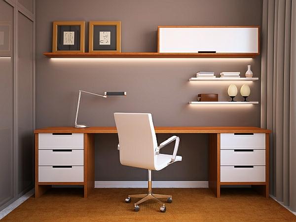 bureau-avec-étagère-beau-design-minimaliste