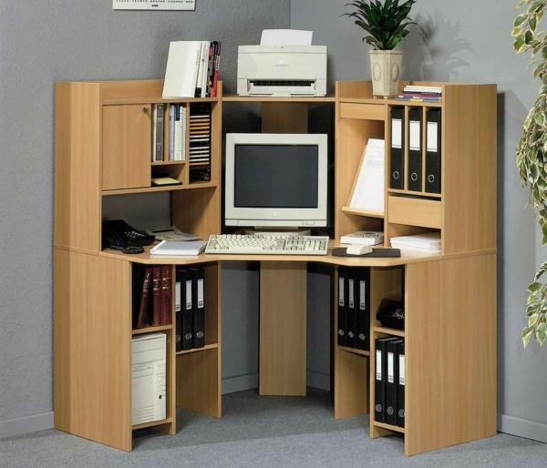 bureau-avec-étagère-bureau-d'angle-en-bois-clair