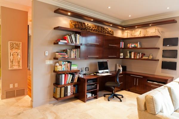 bureau-avec-étagère-bureau-d'angle-une-grande-étagère-en-bois