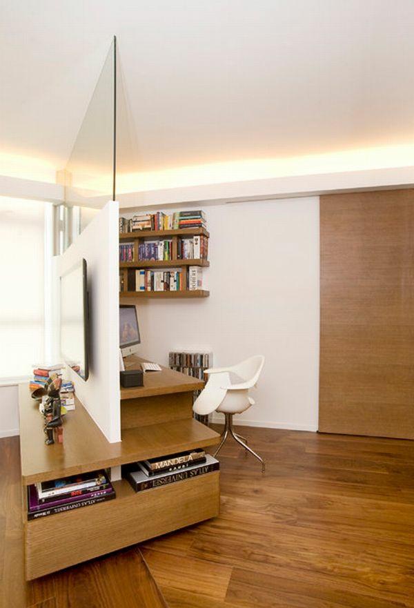 bureau-avec-étagère-bureau-designs-uniques