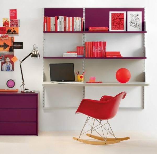 bureau-avec-étagère-bureau-suspendu-avec-étagère