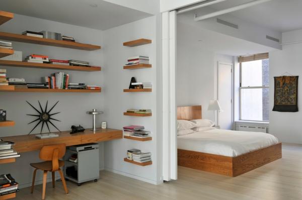 bureau-avec-étagère-bureau-suspendu-en-bois-et-étagères-flottantes