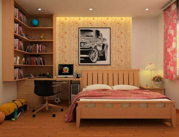 bureau-avec-étagère-chambre-à-coucher