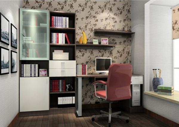 bureau-avec-étagère-chambre-d-ado