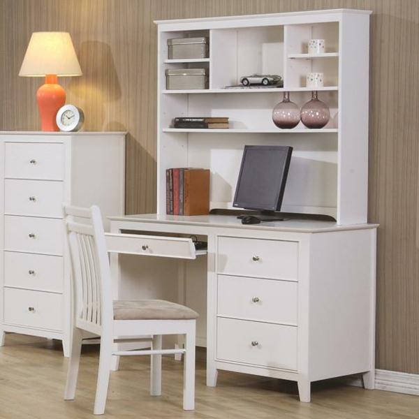 bureau-avec-étagère-design-beau-et-simple