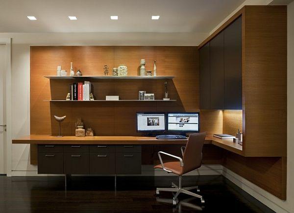 bureau-avec-étagère-design-cool-minimaliste