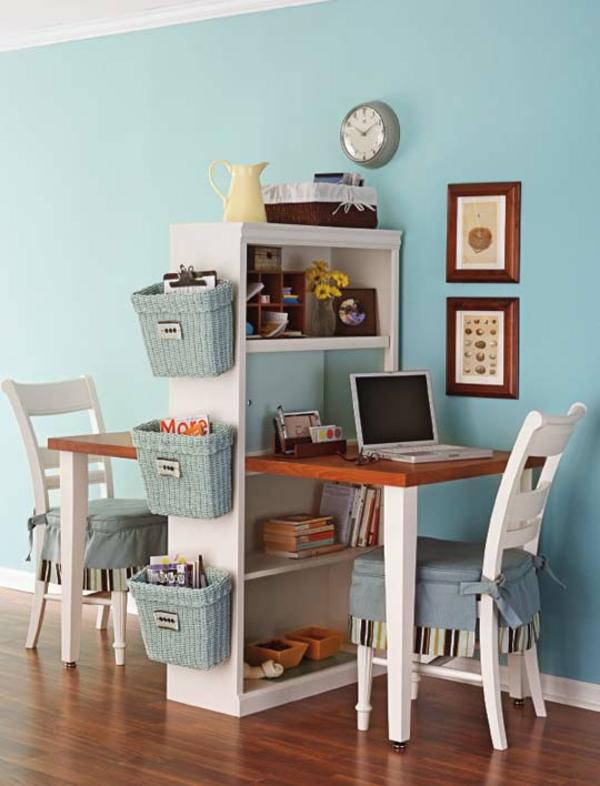 bureau-avec-étagère-design-vintage