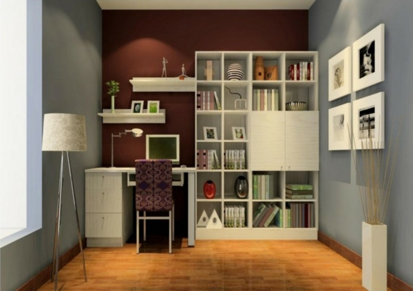 le bureau avec tag re designs cr atifs. Black Bedroom Furniture Sets. Home Design Ideas