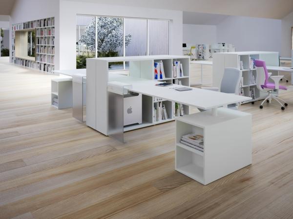 bureau-avec-étagère-espaces-élégantes-de-travail